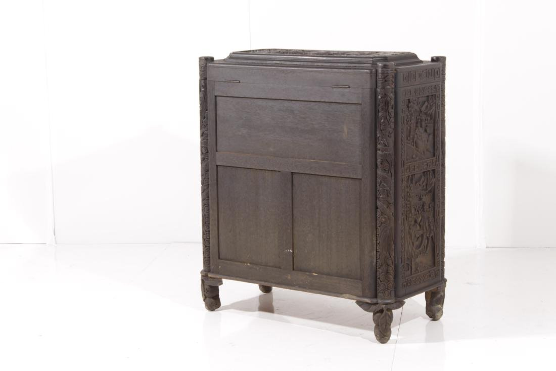 Chinese Carved Camphor Chest - 8