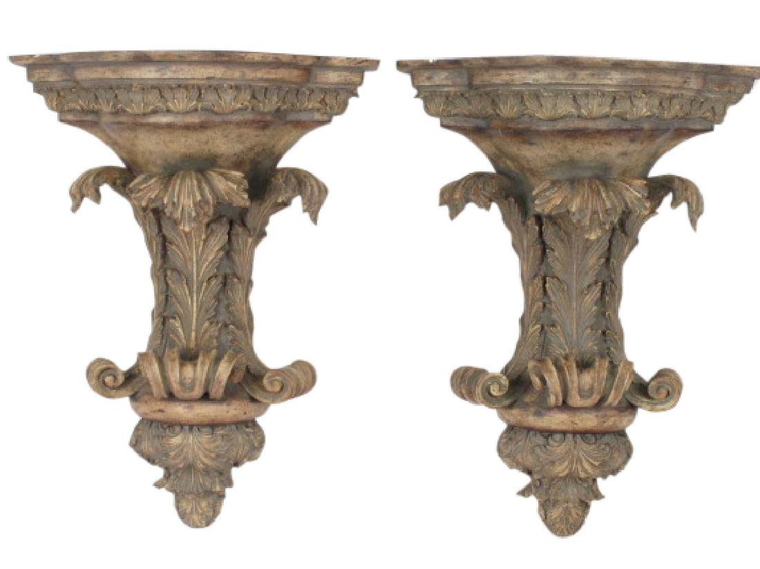 Pair of Contemporary  Wall Brackets