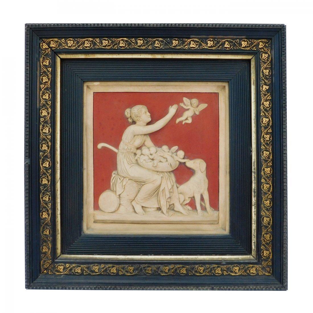 19th C Neoclassical Plaque