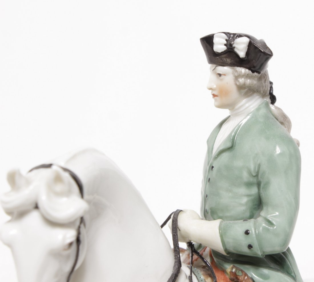 Pair of Porcelain Equestrian Figures - 3