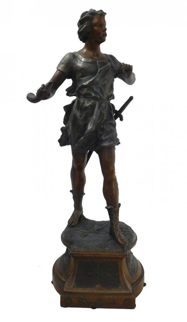 Patinated Metal Sculpture of a Man