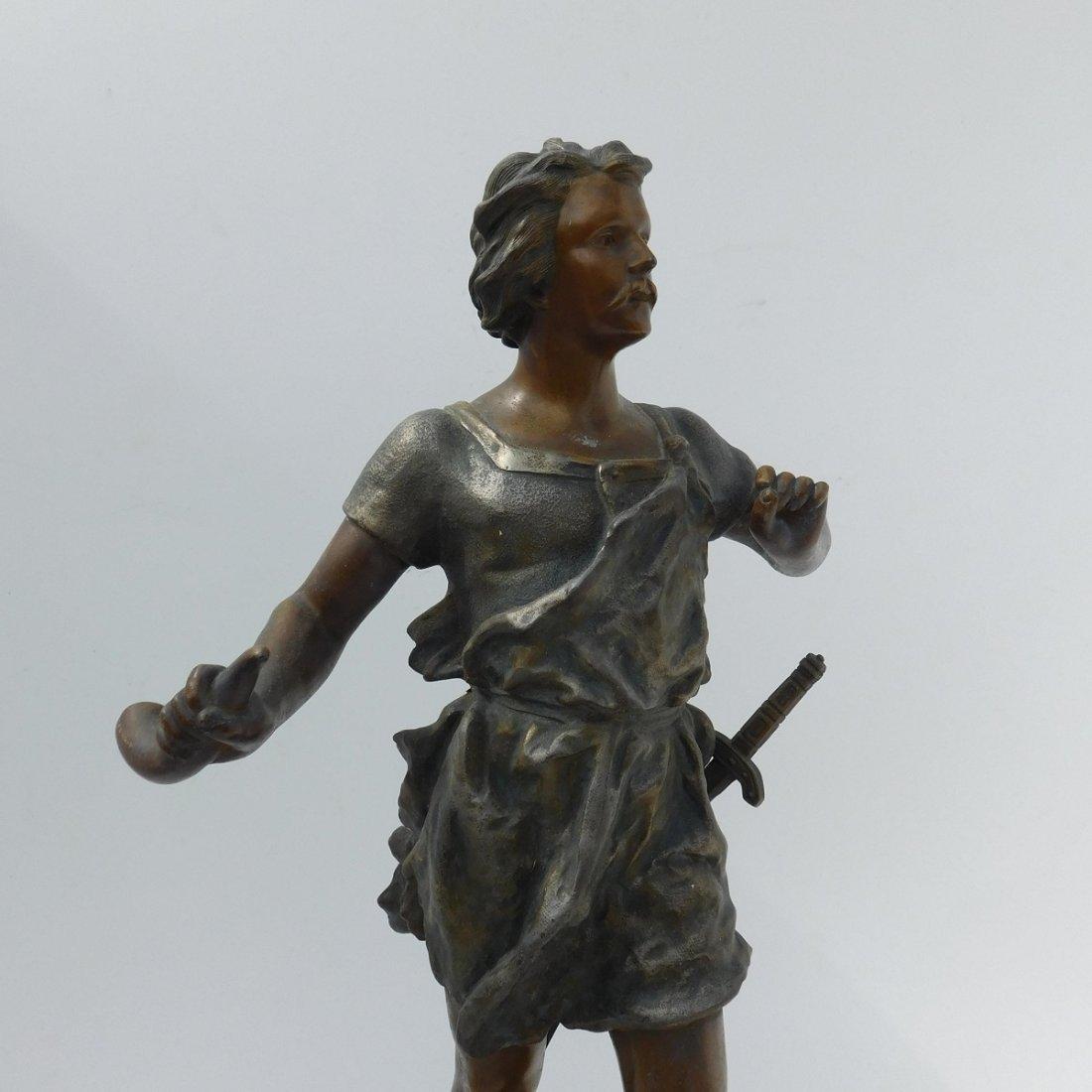 Patinated Metal Sculpture of a Man - 2