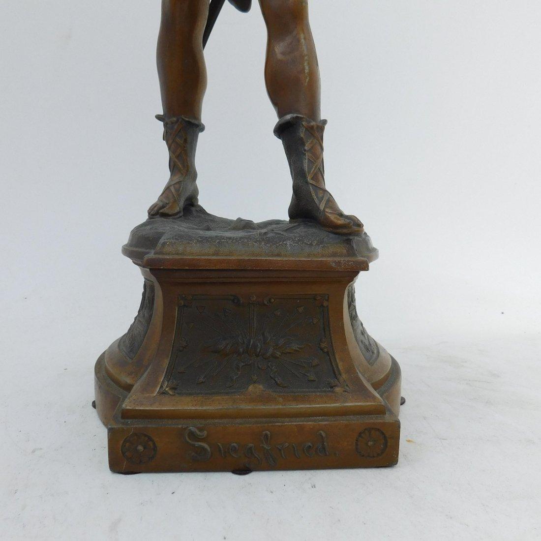 Patinated Metal Sculpture of a Man - 3