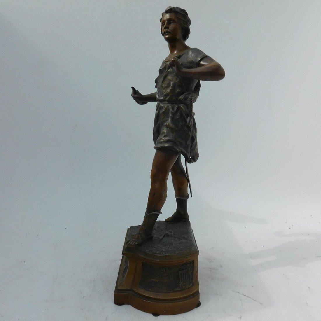 Patinated Metal Sculpture of a Man - 4