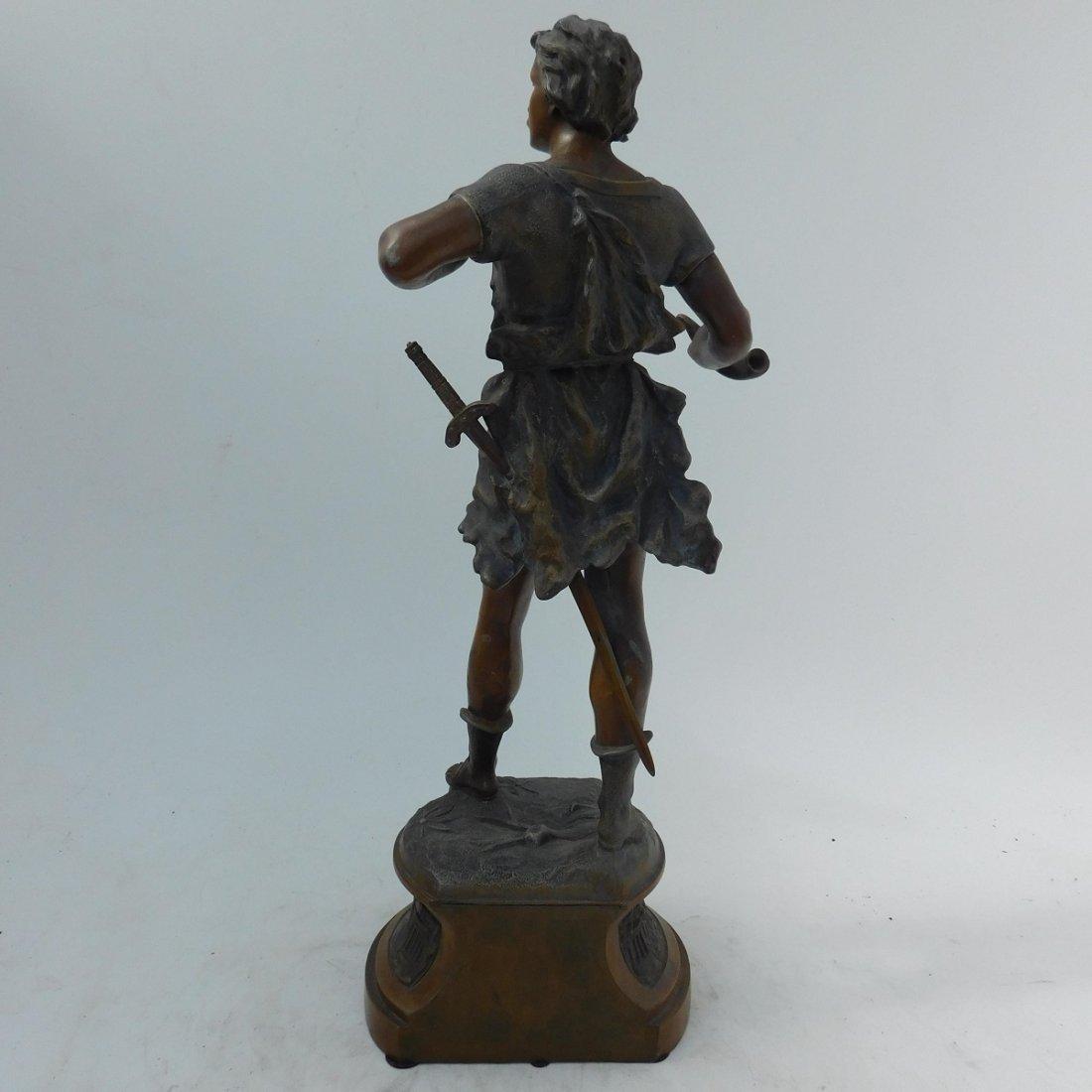 Patinated Metal Sculpture of a Man - 5