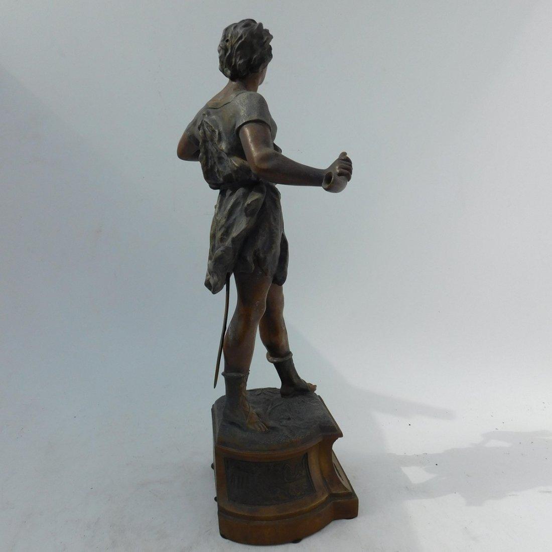 Patinated Metal Sculpture of a Man - 6