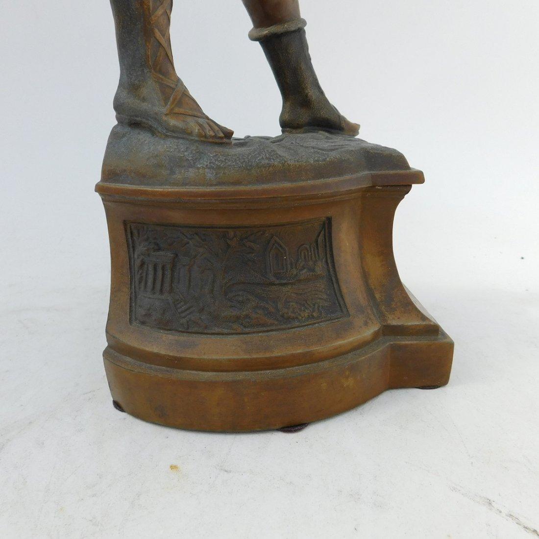 Patinated Metal Sculpture of a Man - 7