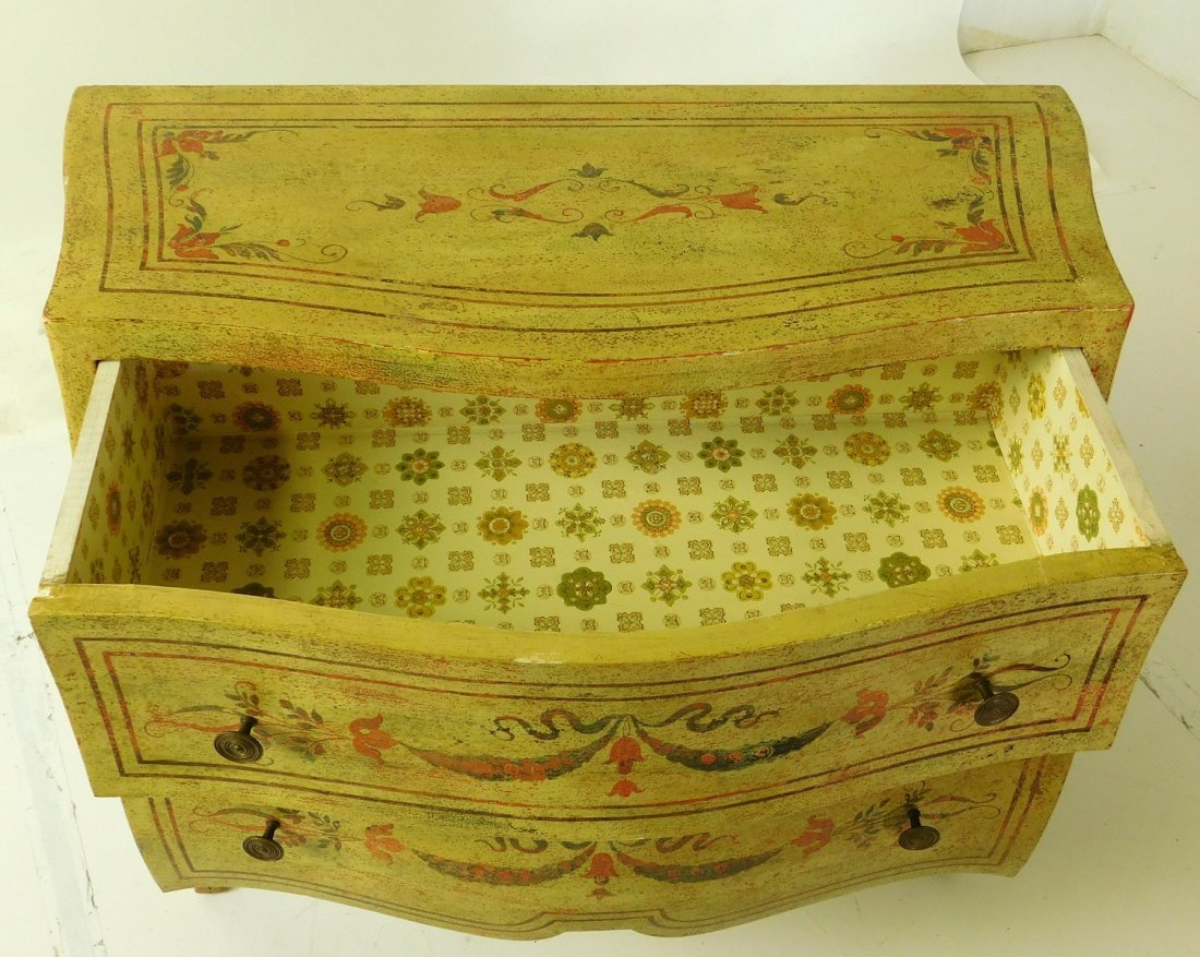 20th C Venetian Style Painted Commode - 3