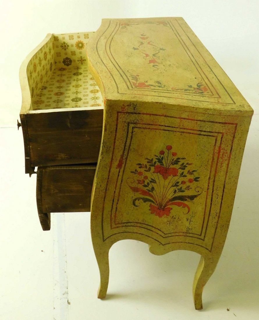 20th C Venetian Style Painted Commode - 4