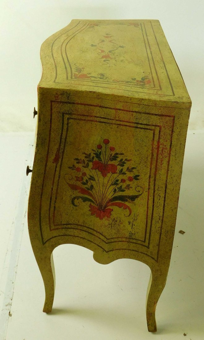 20th C Venetian Style Painted Commode - 5