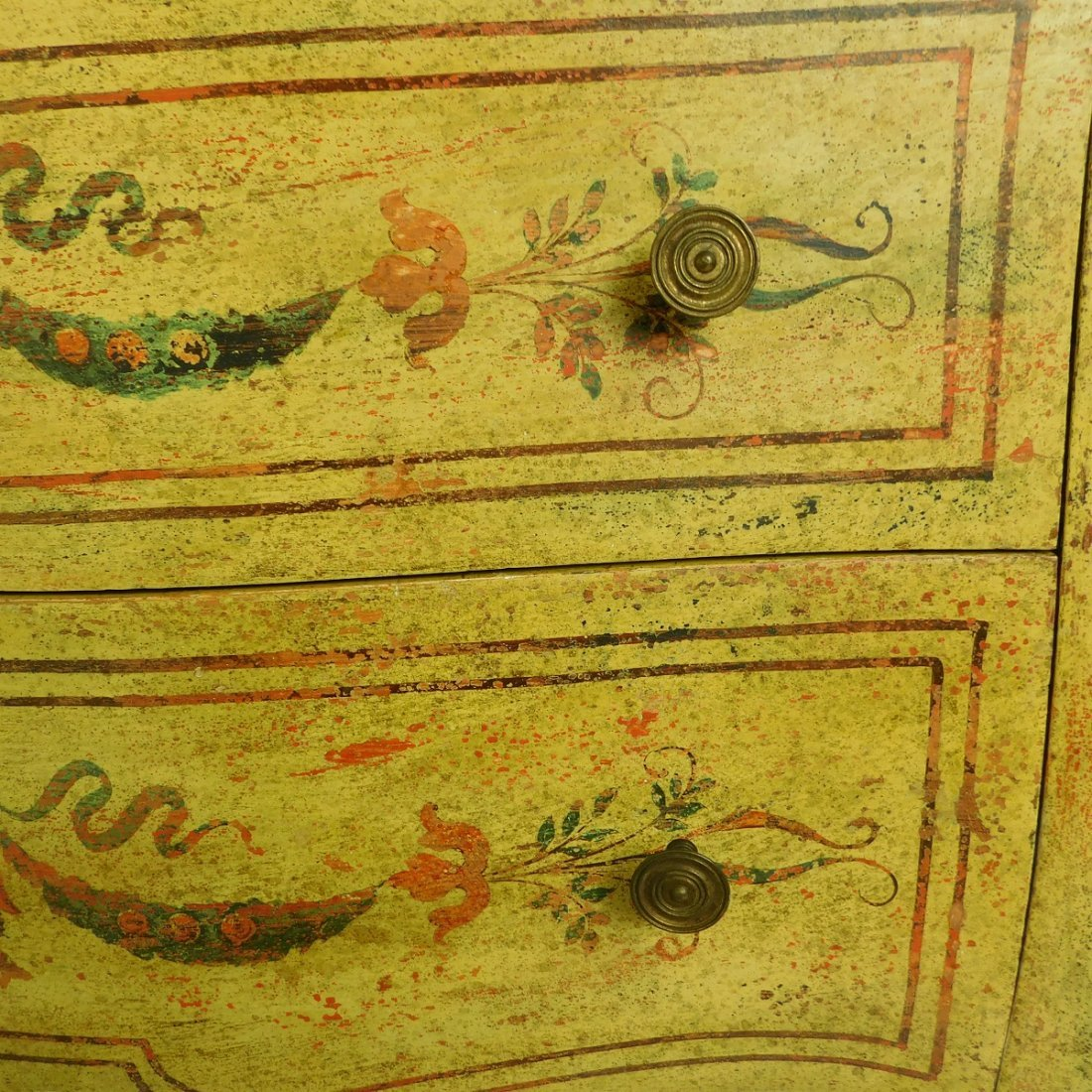 20th C Venetian Style Painted Commode - 6