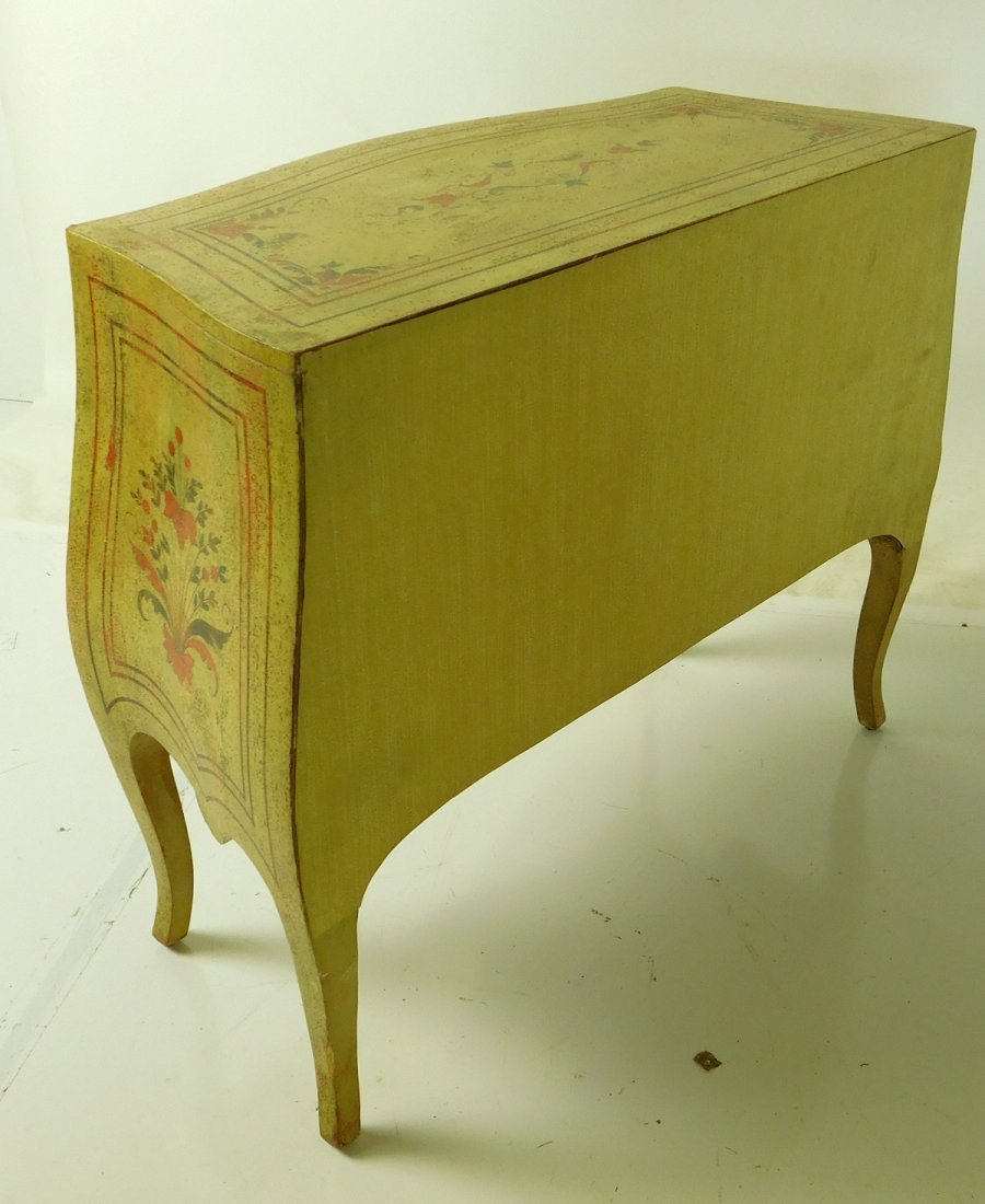 20th C Venetian Style Painted Commode - 7