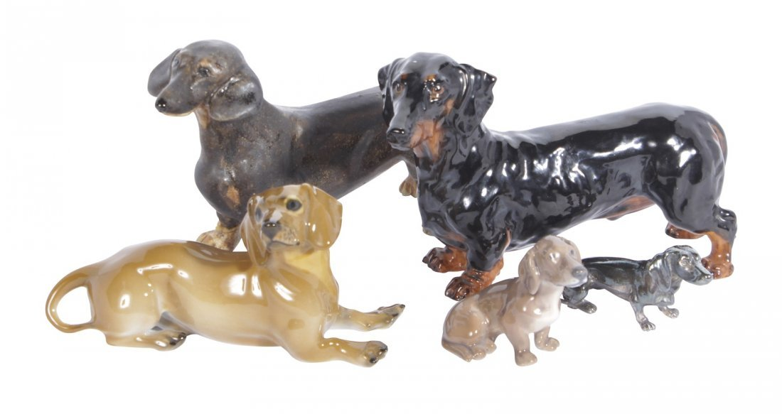 Five Dog Figures