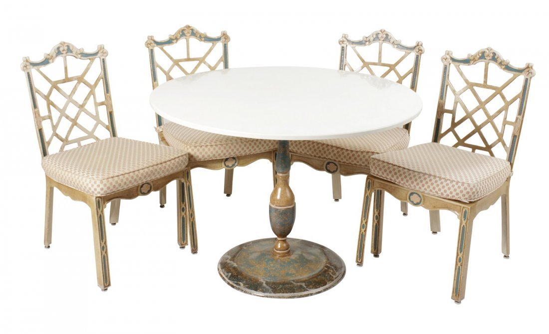 Cast Metal Table and Chairs