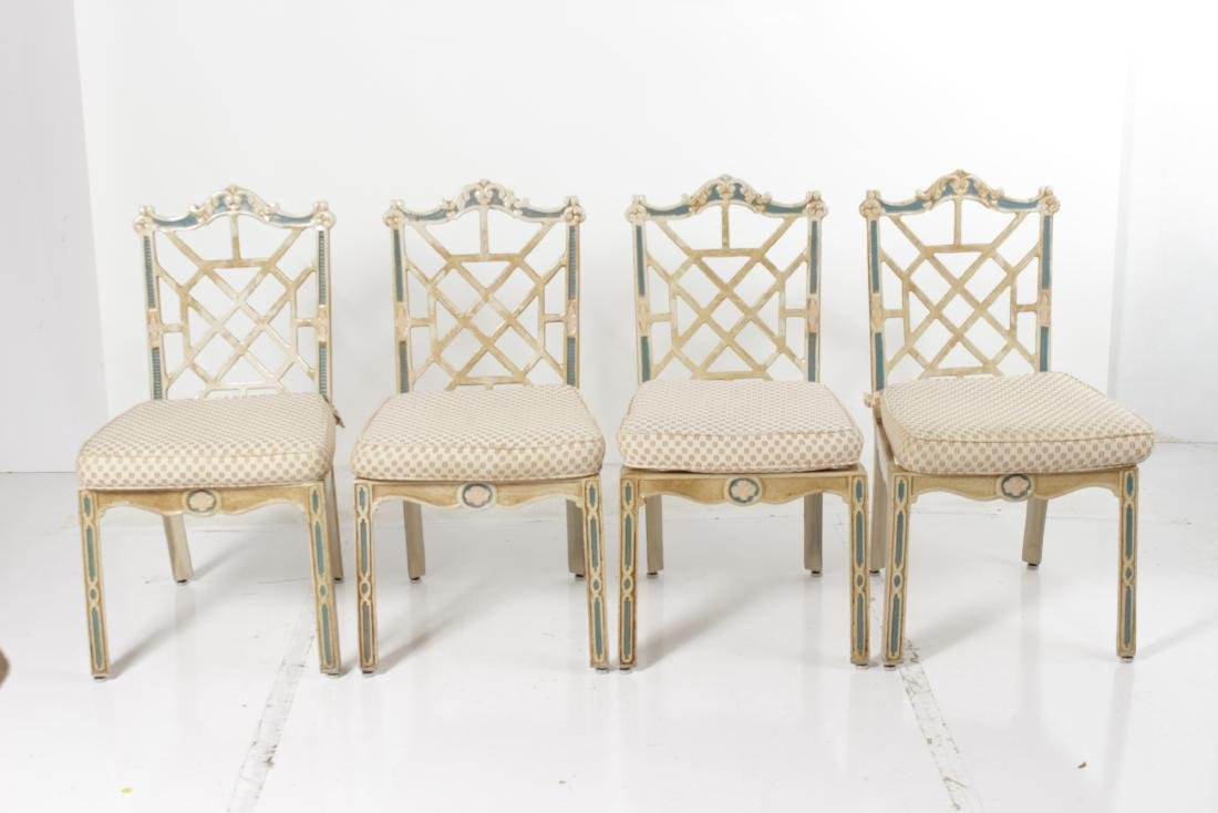 Cast Metal Table and Chairs - 2