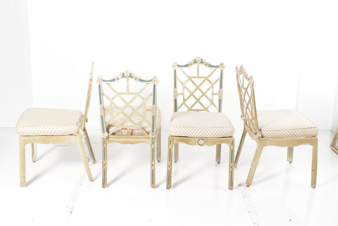 Cast Metal Table and Chairs - 7