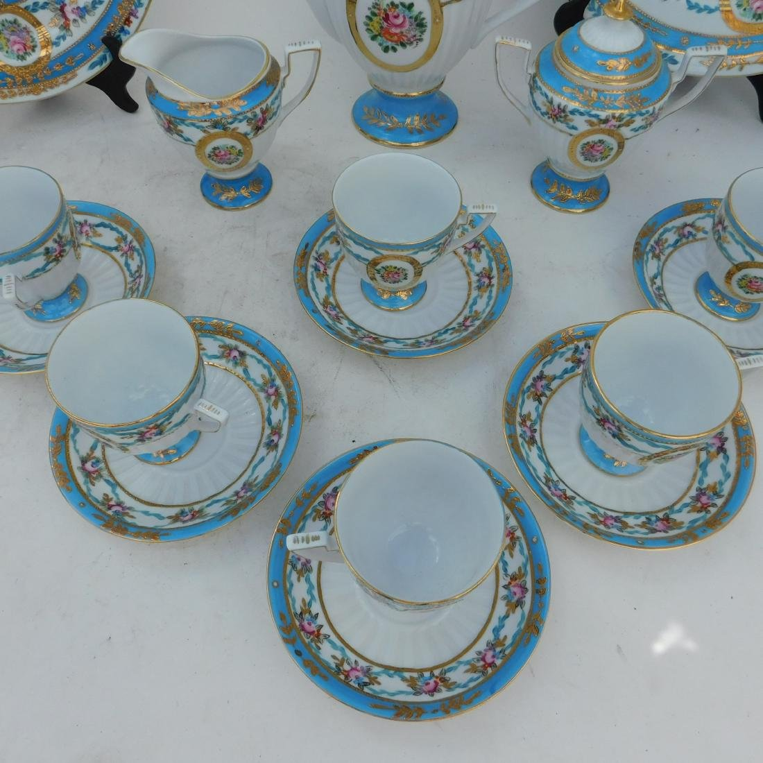 KPM Partial Coffee and Dessert Service In Turquois - 2