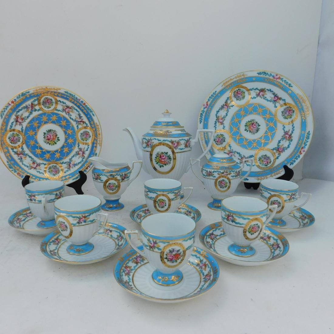KPM Partial Coffee and Dessert Service In Turquois - 3