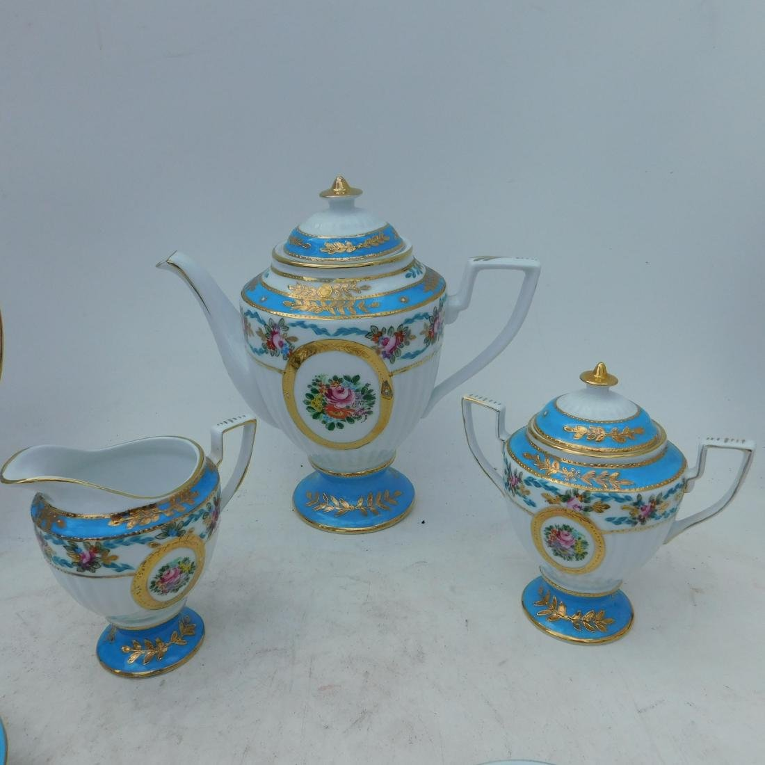 KPM Partial Coffee and Dessert Service In Turquois - 5