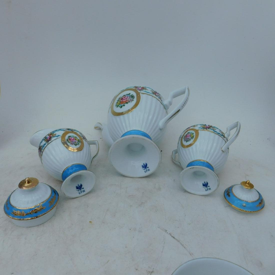 KPM Partial Coffee and Dessert Service In Turquois - 6