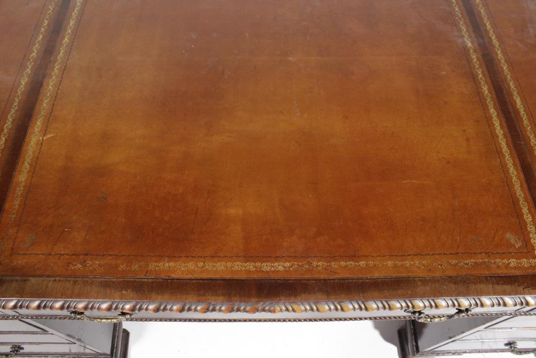Mahogany Leather Top Executive Desk - 2