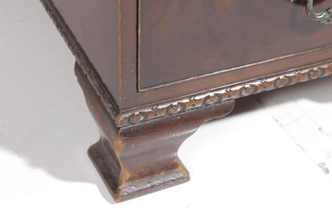 Mahogany Leather Top Executive Desk - 6