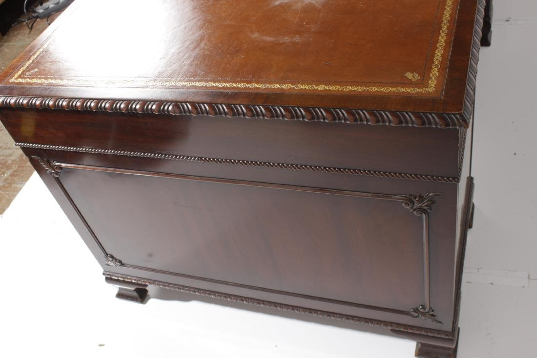 Mahogany Leather Top Executive Desk - 8