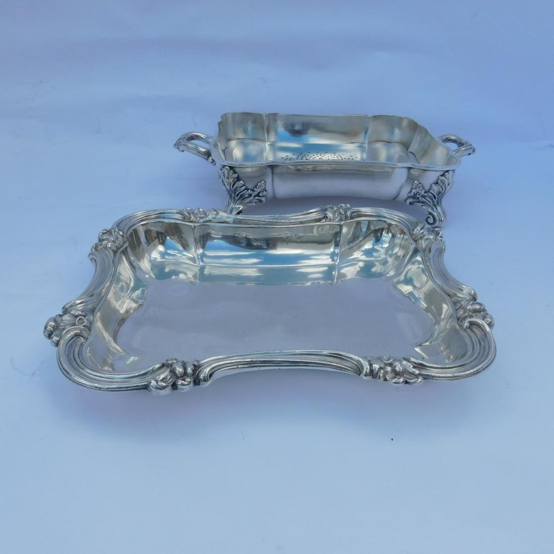 Three Silverplated Serving Dishes - 7