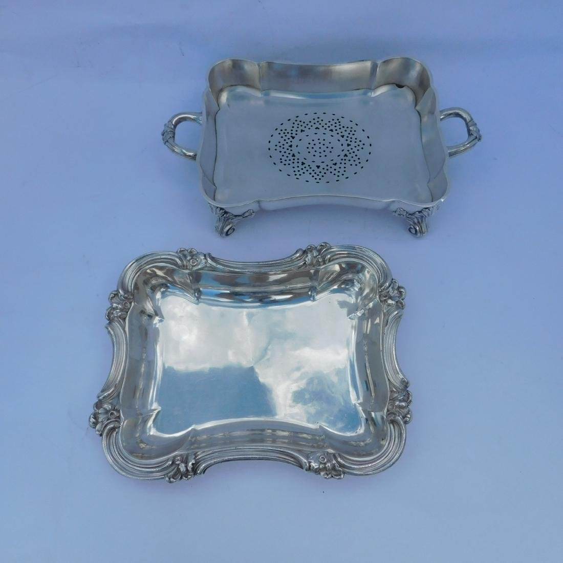 Three Silverplated Serving Dishes - 8