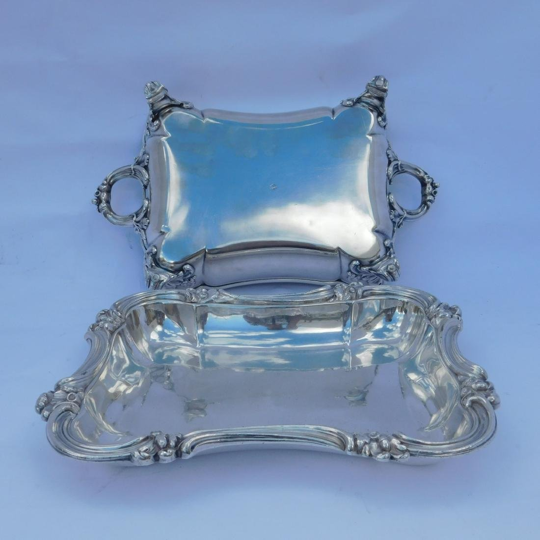 Three Silverplated Serving Dishes - 9