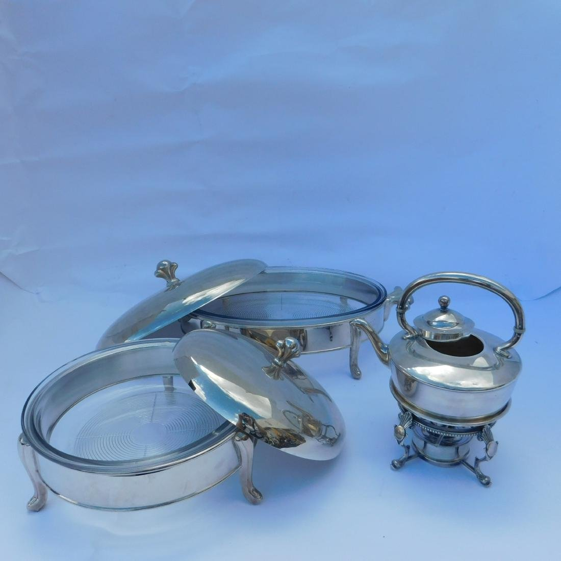 Miscellaneous Lot of three Silverplated Serving Di - 2