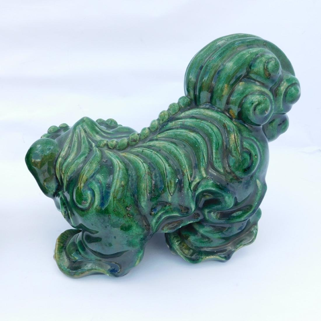 Pair Green Foo Dogs - 3