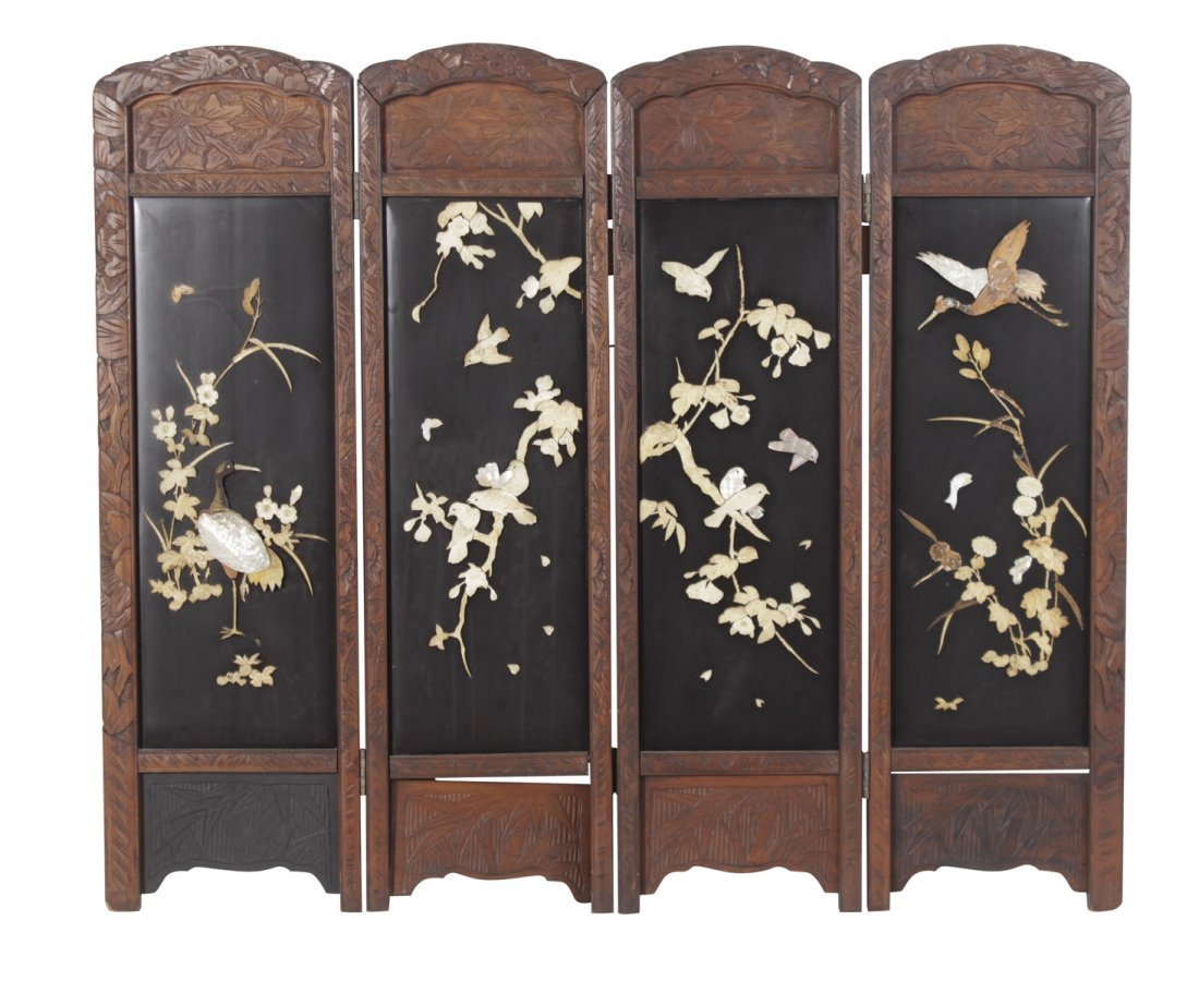 Chinese 4 Panel Screen