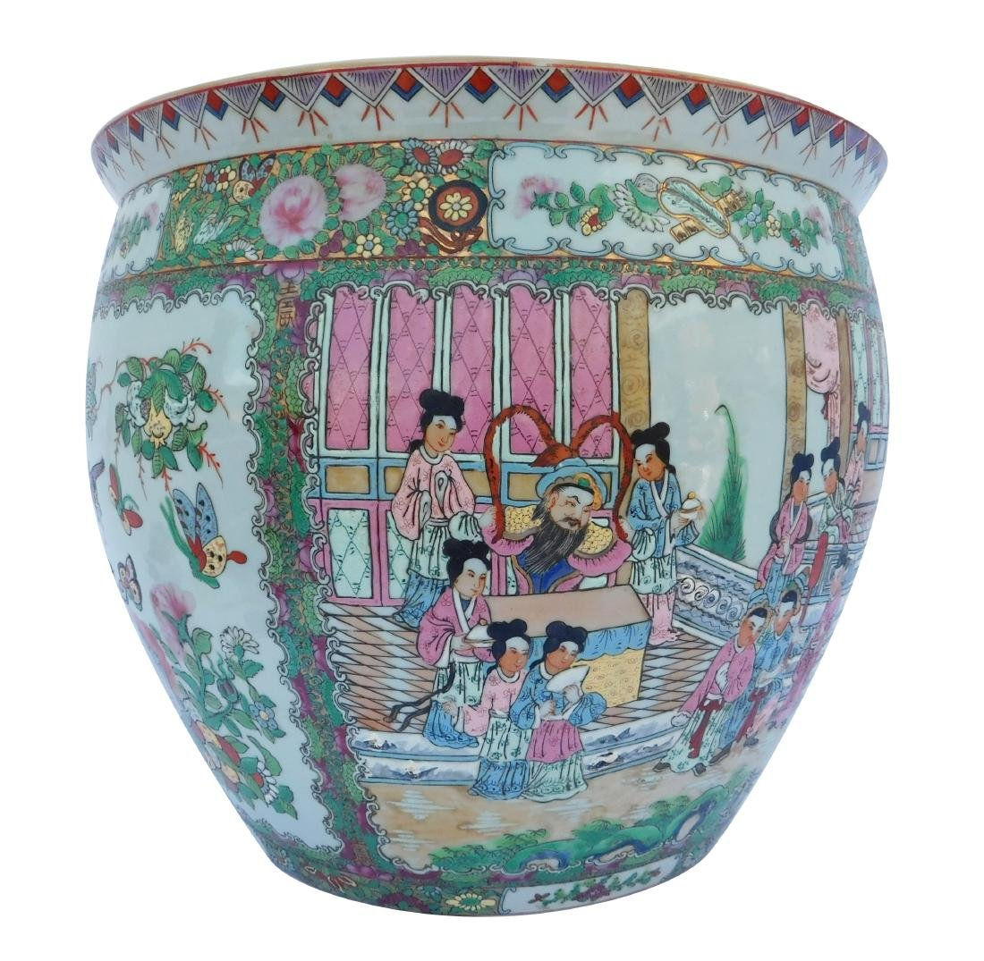 Famille Vert Chinese Porcelain  Fish Bowl