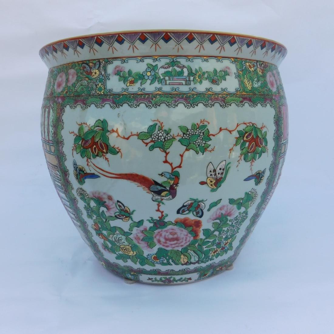 Famille Vert Chinese Porcelain  Fish Bowl - 2