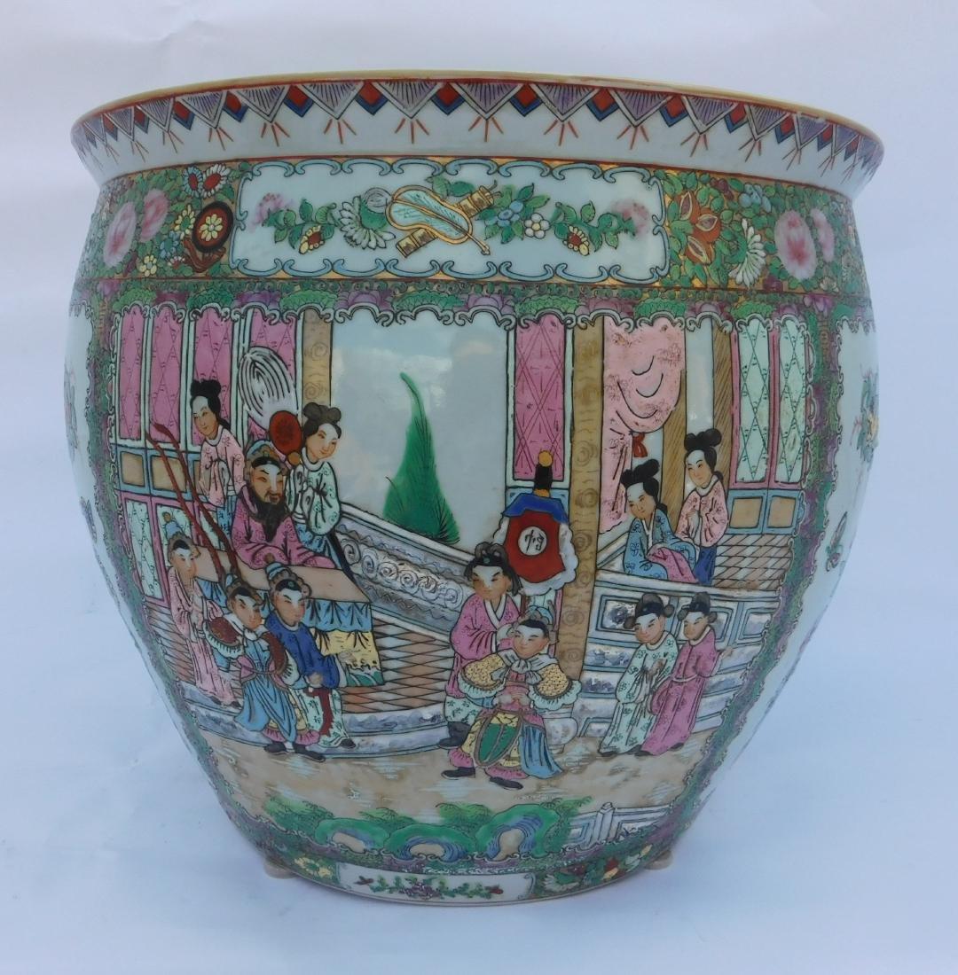 Famille Vert Chinese Porcelain  Fish Bowl - 3