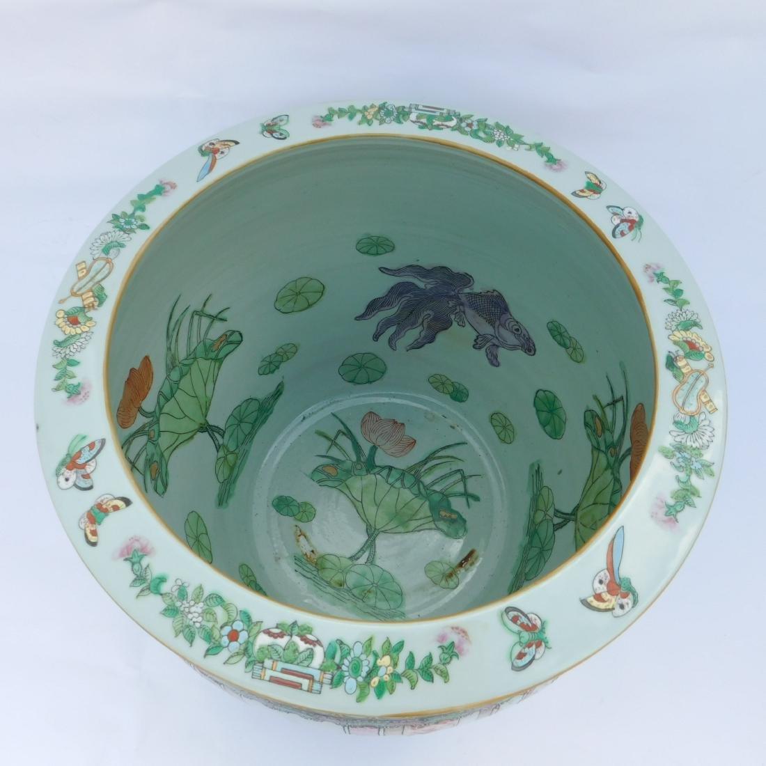 Famille Vert Chinese Porcelain  Fish Bowl - 4