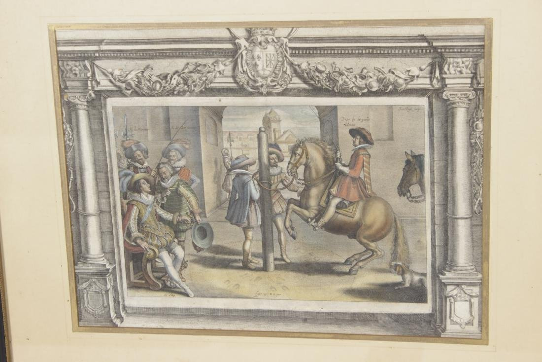Set of Five 18th C Horse Engravings - 2