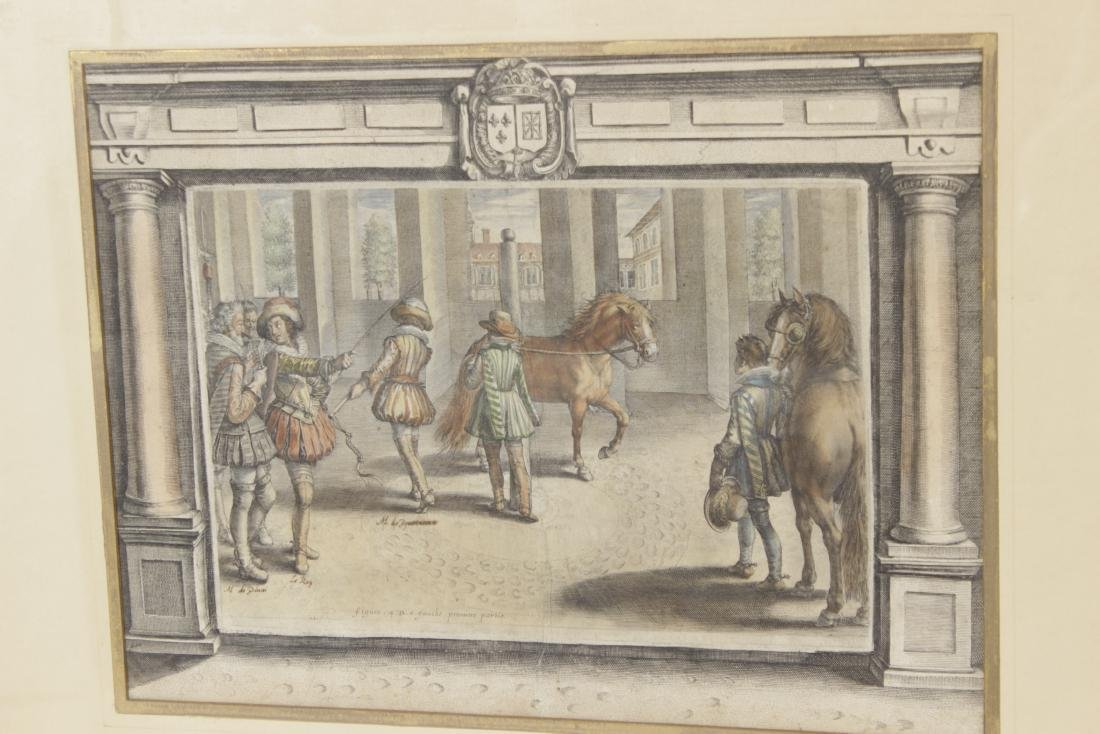 Set of Five 18th C Horse Engravings - 4