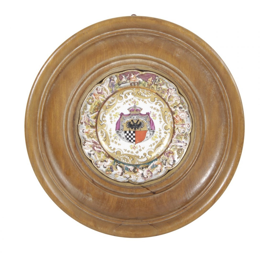 Capodimonte Heraldic Plate