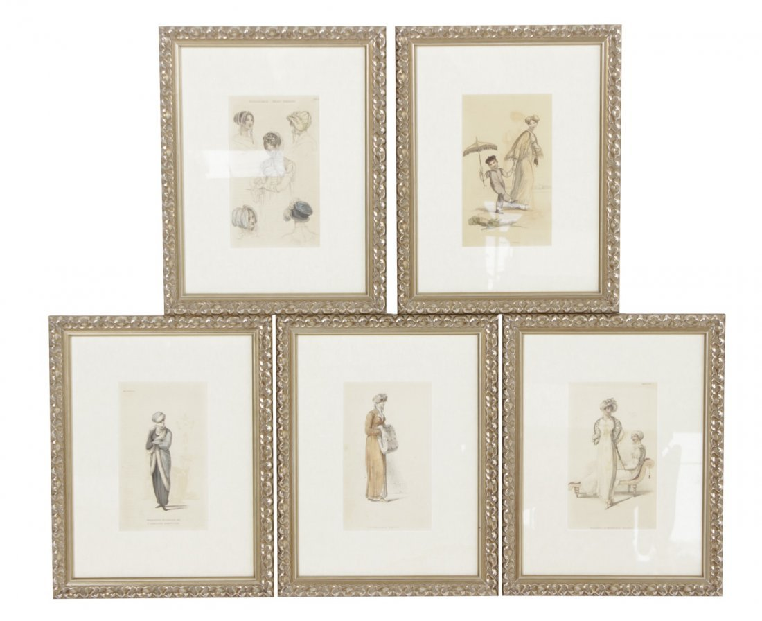 Set of Five Fashion Prints