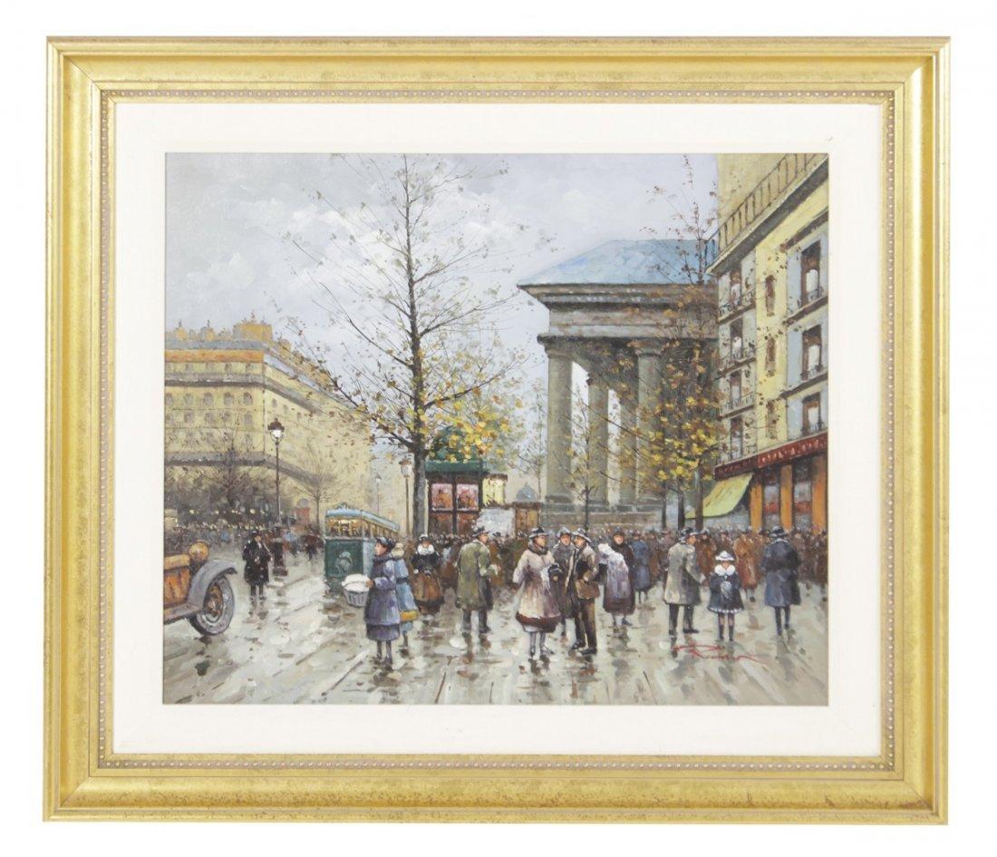 Painting Paris Street Scene