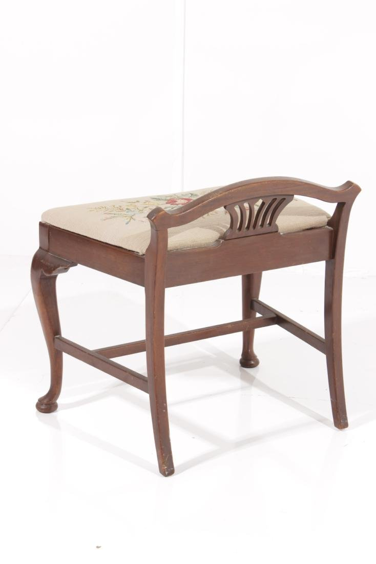 Chippendale Style Vanity Bench - 4