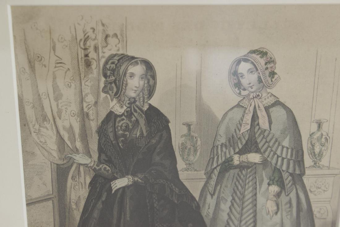 Five Antique Fashion Plates or Etchings - 10