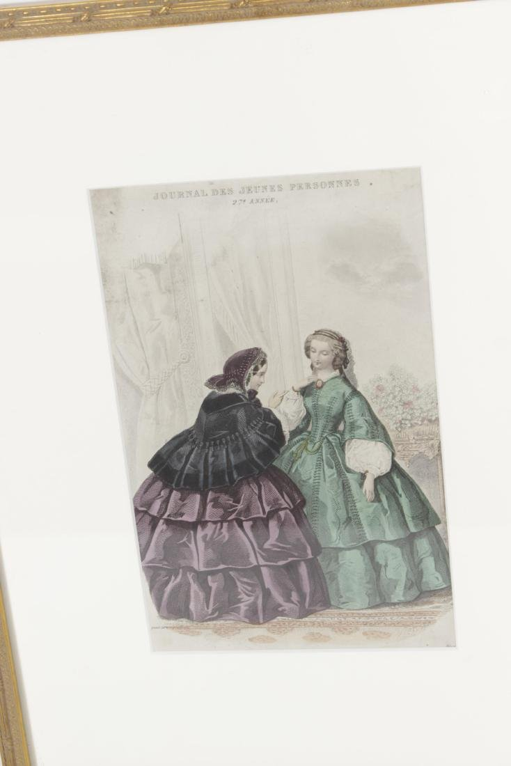 Five Antique Fashion Plates or Etchings - 2