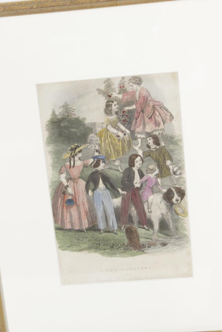 Five Antique Fashion Plates or Etchings - 3