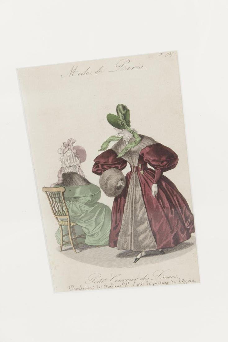Five Antique Fashion Plates or Etchings - 5