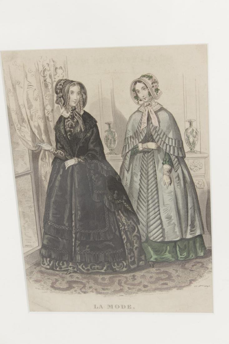 Five Antique Fashion Plates or Etchings - 6