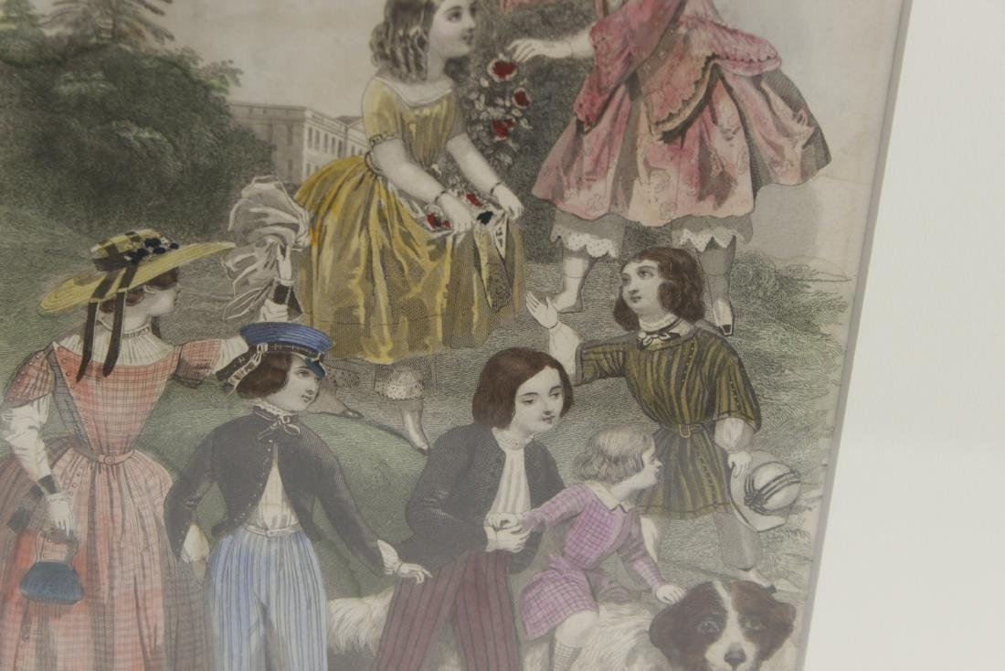 Five Antique Fashion Plates or Etchings - 7