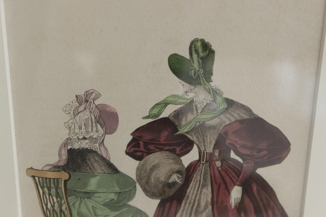 Five Antique Fashion Plates or Etchings - 9